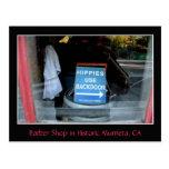 Sign in Barber-Shop Window, Murrieta, CA Post Cards