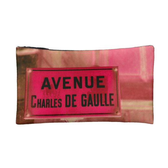 Sign in French of Paris street sign Makeup Bag