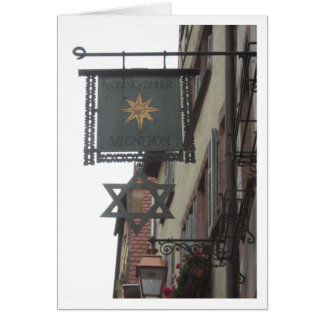 Sign in Ribeauville, Alsace in France Greeting Card