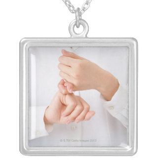 Sign Language 2 Silver Plated Necklace
