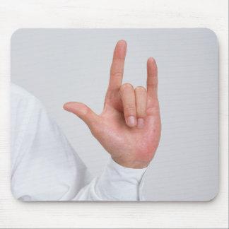 Sign Language 5 Mouse Pad