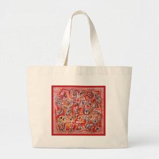 Sign Language Alphabet2 Canvas Bags