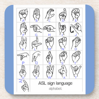 SIGN LANGUAGE ALPHABET coaster
