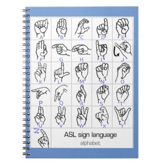 SIGN LANGUAGE ALPHABET notebook