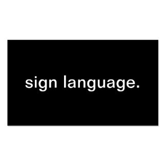 Sign Language Double-Sided Standard Business Cards (Pack Of 100)