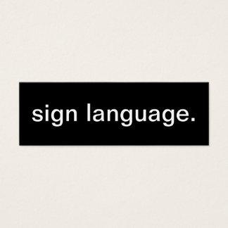 Sign Language Business Card