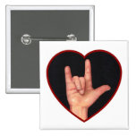SIGN LANGUAGE I LOVE YOU HEART, HAND PIN