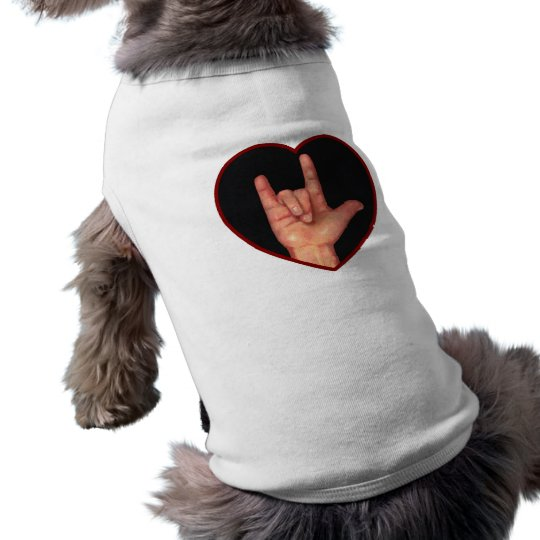 SIGN LANGUAGE I LOVE YOU HEART, HAND T-Shirt