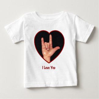 SIGN LANGUAGE I LOVE YOU HEART, HAND TEES