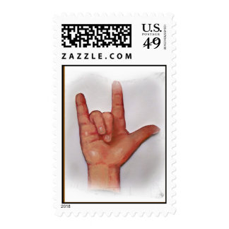 SIGN LANGUAGE I LOVE YOU STAMP