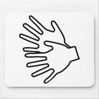 sign language icon mouse mats