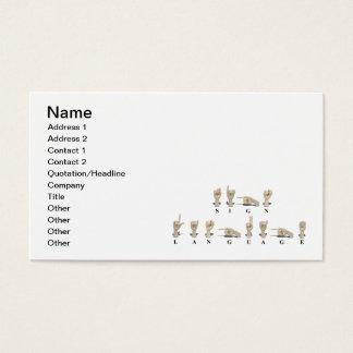 Sign Language in Ameslan Business Card
