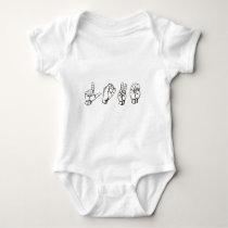 sign language L, 431px-Sign_language_O.svg, 257... Baby Bodysuit