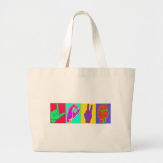 Sign Language LOVE Tote Bags