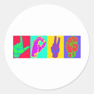 Sign Language LOVE Stickers