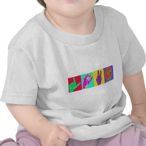 Sign Language LOVE Tshirts