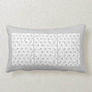 Sign Language Lumbar Pillow