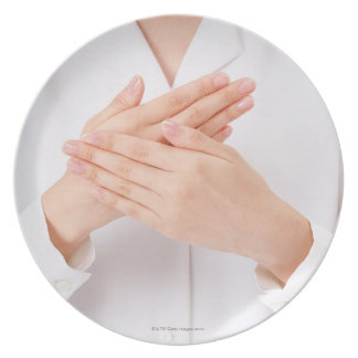 Sign Language Melamine Plate