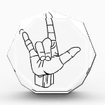 """Sign Language Outline Award<br><div class=""""desc"""">This great design sends love in a special language - Sign Language.  Perfect anytime you need to send this special sentiment.</div>"""