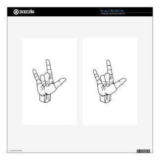 Sign Language Outline Kindle Fire Skin