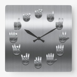Sign Language -Stainless Wall Clock