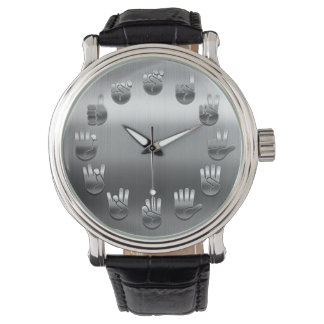 Sign Language -Stainless Wrist Watch