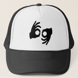 sign language trucker hat