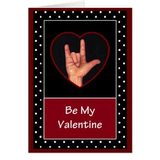 SIGN LANGUAGE: VALENTINE CARD