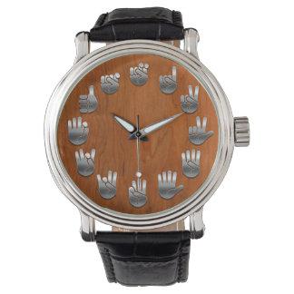 Sign Language -Woodgrain Wrist Watch