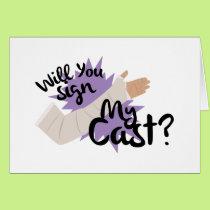 Sign My Cast Card