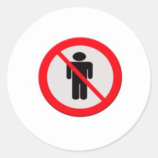 Sign no one classic round sticker