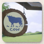 Sign of a dairy farm drink coaster