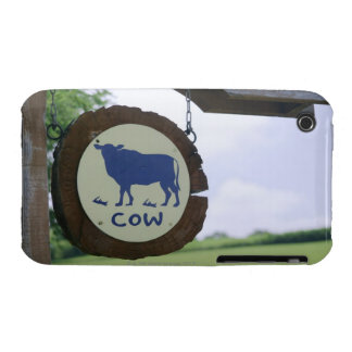 Sign of a dairy farm iPhone 3 cover