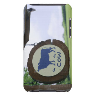 Sign of a dairy farm iPod touch cases