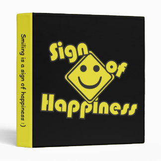 Sign of Happiness Binder
