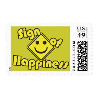 Sign of Happiness Postage Stamps