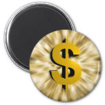 Sign of Money 2 Inch Round Magnet