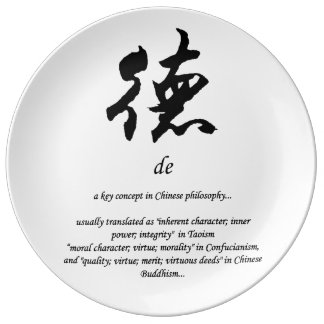 sign of morality porcelain plate