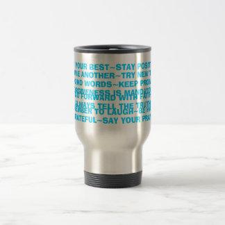 sign of positive sayings mug