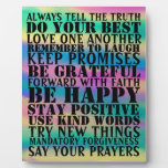 sign of positive sayings Plaque
