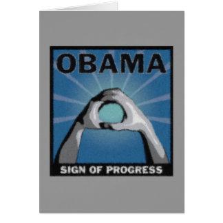 Sign of Progress Card