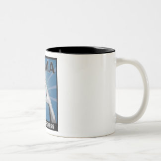 Sign of Progress-Obama Two-Tone Coffee Mug