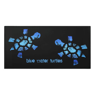 Sign of the Blue Water Turtle