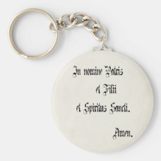 Sign of the Cross Keychain