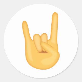 Sign of the Horns - Emoji Classic Round Sticker