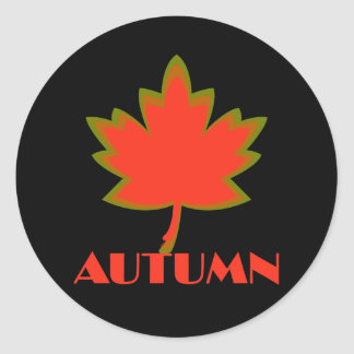 Sign of the Times Autumn Round Stickers