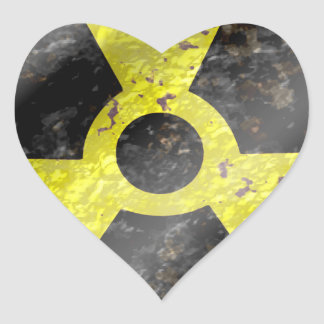 Sign of the times - fallout nuke radiation heart sticker