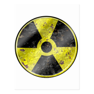 Sign of the times - fallout nuke radiation postcard