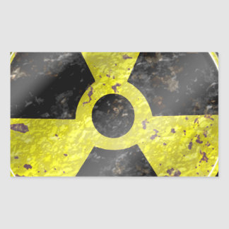 Sign of the times - fallout nuke radiation rectangular sticker