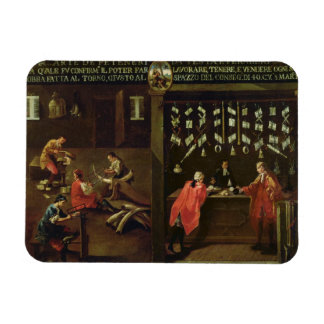 Sign of the Venetian Comb Makers Guild panel Rectangle Magnets